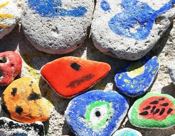 Prints on pebbles